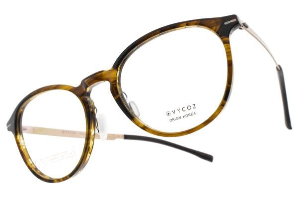 VYCOZ光學眼鏡 TOSS HAV (透棕-金) 文藝小臉貓眼款 薄鋼眼鏡 # 金橘眼鏡