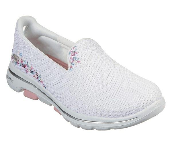 Skechers Go Walk 5 - Sweet [15945WHT] 女鞋 健走 休閒 避震 懶人 步行 穿搭 白