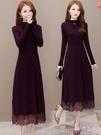 針織洋裝 秋冬裝2021年新款女裝長袖針織女士毛衣裙子連身裙早春秋季打底衫 suger