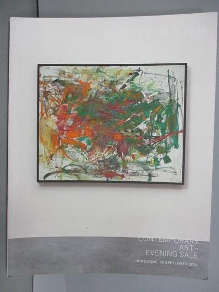 【書寶二手書T3/收藏_QBH】蘇富比_Contemporary Art-Evening Sale_2018/9/30