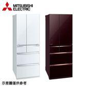 【MITSUBISHI三菱】605公升變頻六門冰箱MR-WX61C水晶白