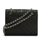Tory Burch 31159603 Fleming'斜挎包真皮黑色