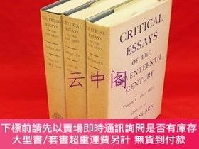 二手書博民逛書店Critical罕見Essays of the Seventeenth Century vol.1-33冊組 v.