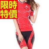 女單車服 短袖套裝-透氣排汗吸濕新品細緻自行車衣車褲56y17【時尚巴黎】