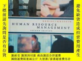 二手書博民逛書店HUMAN罕見RESOURCE MANAGEMENT (SECO