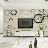 現代簡約客廳電視背景墻壁紙3D無縫墻布
