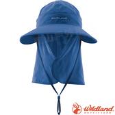 Wildland 荒野 W1038-69灰藍色 中性可脫式功能遮陽帽 防曬工作帽/登山休閒帽/漁夫帽/大圓帽/抗UV*