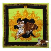 VERSACE 凡賽斯 古典藝術華麗老虎帕巾(蘋果綠色)989017-28