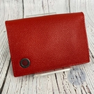 BRAND楓月 BVLGARI 寶格麗 紅色 亮皮 圓形LOGO 卡夾 鑰匙袋 零錢袋 小物收納 證件收納