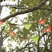 【LOGOS  印地安3 色旗誌2PCS 】71809509 三角旗幟三角吊旗串旗露營帳篷裝飾★滿額送