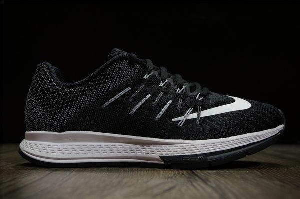 Wmns Nike Air Zoom Elite 8 黑白網布 灰飛線 無縫線慢跑 運動 休閒 慢跑 2016 8月 ( 布魯克林 ) 748589-010