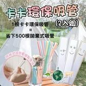 台灣製 GAGA STRAW 卡卡環保吸管(2入組) 卡卡捲 卡卡吸管 環保 飲料 手搖飲