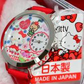 日本製 Hello Kitty與泰迪小熊 甜點造型 鑲鑽立體手錶 日本限定 附精美禮盒 值得收藏