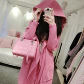 【TU22】衛衣三件套裝時尚寬鬆中長款粉嫩連帽外套+吊帶+包臀短裙805
