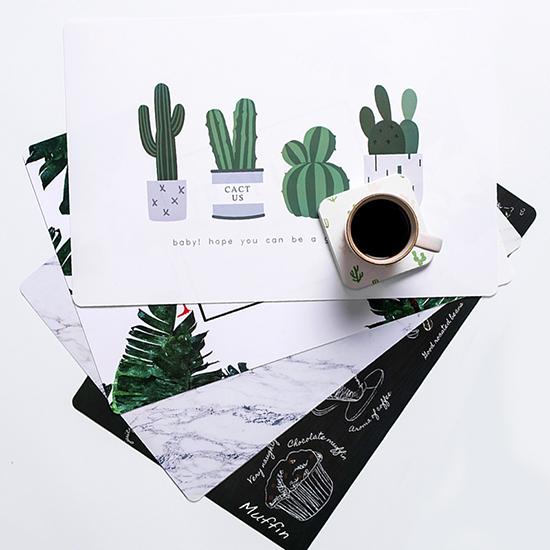 歐式印花桌墊(大) 餐墊 隔熱墊 滑鼠墊 佈置 大理石 杯墊 餐桌墊 鍋墊 廚房 PVC【H012】慢思行