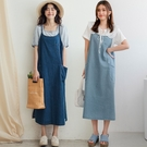 MIUSTAR 圓弧口袋細肩牛仔洋裝(共2色)【NJ1117】預購