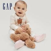 Gap嬰兒 保暖剪毛絨長袖家居服套裝 650145-燕麥灰