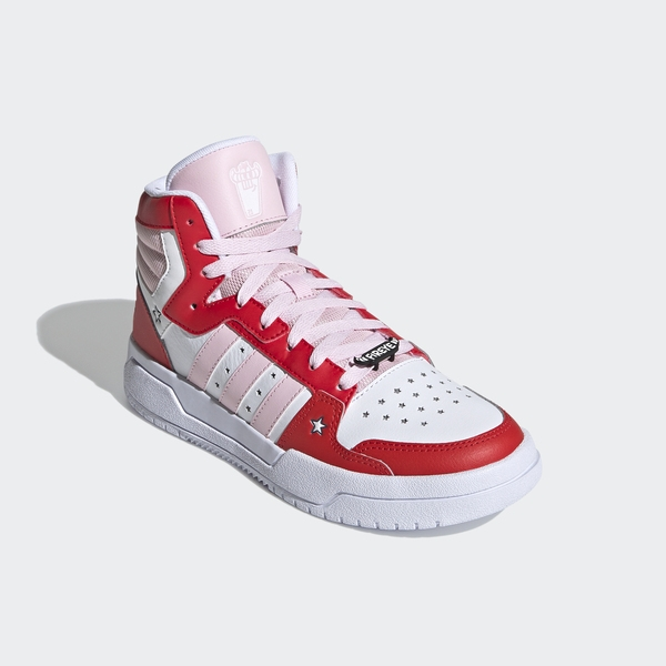Adidas Neo Entrap Mid [H01544] 女鞋 運動 休閒 高筒款 籃球鞋 愛迪達 穿搭 白 粉紅