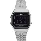 CASIO手錶 經典復古黑面鋼錶NECA8