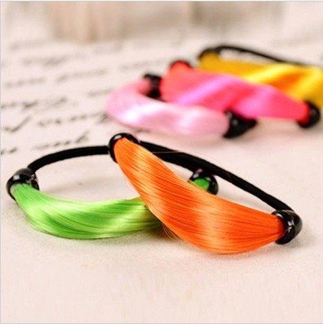 ►造型編髮器 假髮髮圈 螢光色假髮彈力橡皮筋 髮繩 頭繩 髮圈 【B5019】