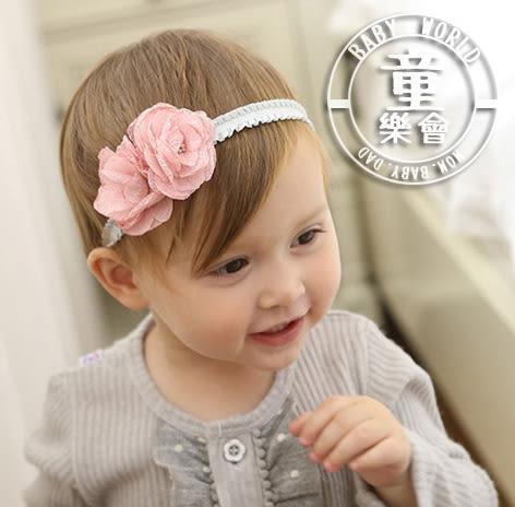 髮帶 寶寶 韓版 花朵 造型 彈力髮飾 BW