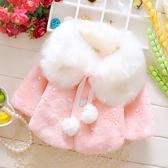 限定款鋪棉厚外套 嬰兒刷毛外套斗篷兒童披風秋冬0-1-2-3歲女寶寶冬裝加厚刷毛外套外出衣服防風