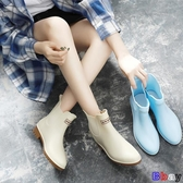 Bbay 防水雨鞋 中筒 女生雨靴 低幫短筒 雨鞋 防滑 水鞋 膠鞋