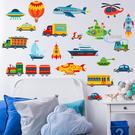 飛船小火車 壁貼 貼紙 客廳 臥室貼 廚房貼 浴室貼 沂軒精品 E0070