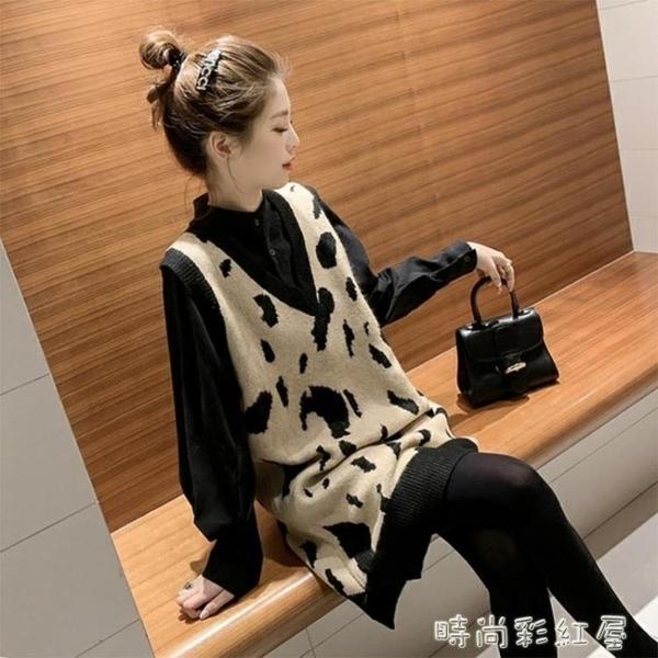 2020春秋季新款韓版馬夾坎肩中長款毛衣馬甲針織背心女寬鬆外穿潮 裝飾界