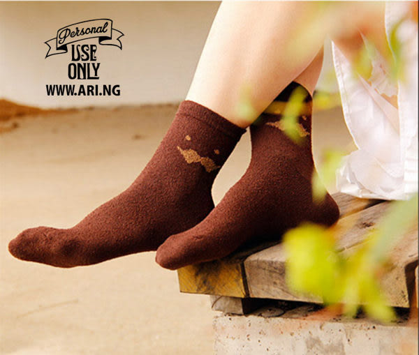 襪子【FSW030】可愛胡子圈圈紗中筒襪  SORT