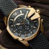 DIESEL 大型標誌粗曠時尚腕錶 DZ4344 熱賣中!