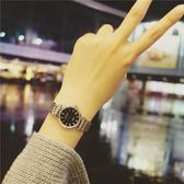 韓國時尚女學生韓版簡約大氣潮流ulzzang精鋼帶男錶情侶手錶一對  enjoy精品