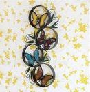 蝴蝶鐵藝壁飾   復古壁式裝飾品【藍星居家】