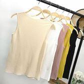夏季新款純色修身顯瘦上衣韓版無袖百搭甜美針織衫女
