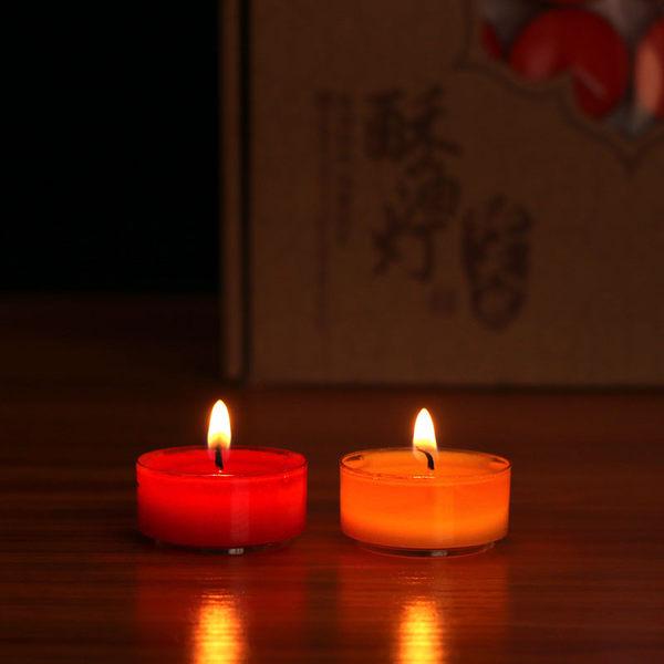 佛教用品供燈酥油燈108粒4小時無煙供佛酥油燈香薰蠟燭DSHY 年尾牙提前購