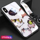 萬聖節優惠-蘋果8plus手機殼iphonex玻璃ip7全包6s防摔套