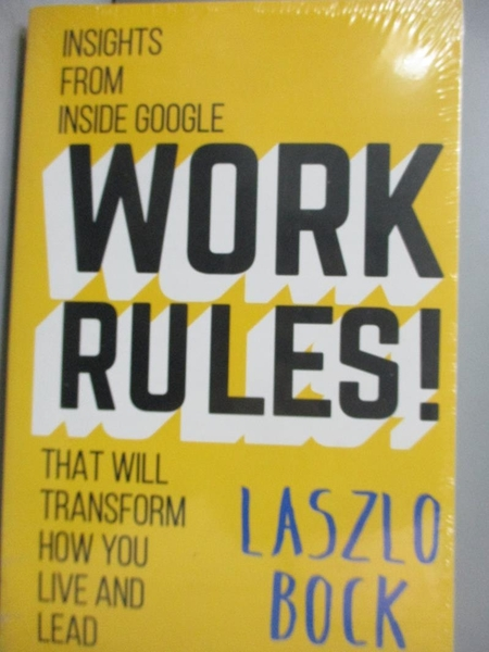 【書寶二手書T6/傳記_ZFZ】Work Rules!: Insights from Inside Google Tha