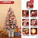 聖誕樹套餐1.2m加密植絨落雪聖誕樹場景裝飾道具