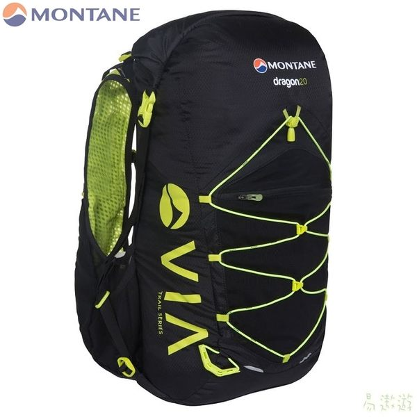 Montane 英國 VID透氣野跑背心背包20升-抗菌 M/L 黑 PDR20BLA 路跑 輕量 健行 馬拉松 [易遨遊]