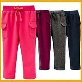 男女款 雙口袋綁繩褲 四色純色內刷毛