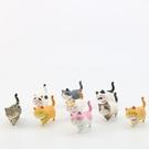 二代自愈系可愛貓咪公仔 溫暖系列 日本貓咪 圓滾 憨實 貓咪 手辦韓版創意造景公仔