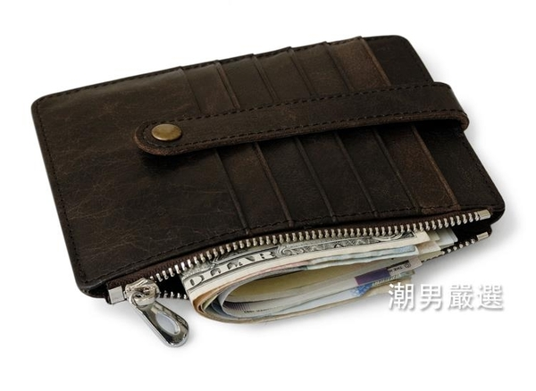 頭層皮質護照包多功能卡夾信用卡套多功能零錢包女士錢包
