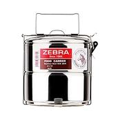 ZEBRA斑馬304不鏽鋼2層便當盒_12cm 8122
