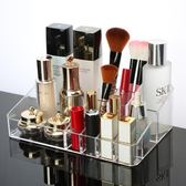 透明化妝品收納盒 防塵帶蓋式護膚品置物架梳妝台桌面【新店開業八五折】JY