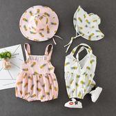 全館83折 嬰兒三角包屁褲連體衣6-12個月寶寶夏裝女新生兒衣服公主哈衣薄款