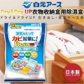日本品牌【白元】Dry&dry up衣物收納盒用除濕盒