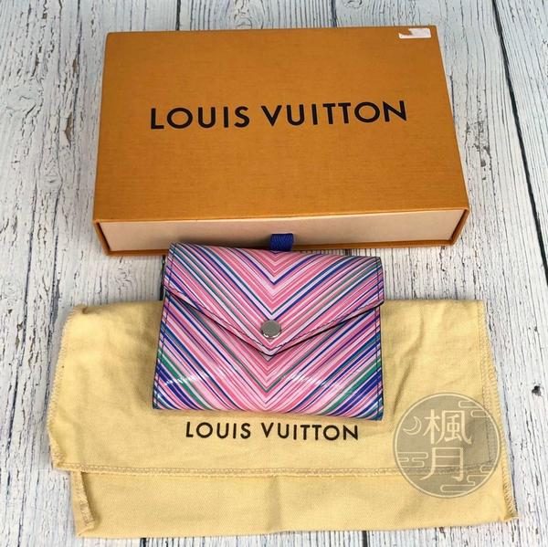 BRAND楓月 LOUIS VUITTON 路易威登 LV M62476 彩拚短夾 錢夾 錢包 皮夾 皮包