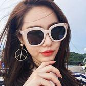 方框太陽鏡 時尚復古大框墨鏡顯瘦太陽眼鏡【多多鞋包店】j44