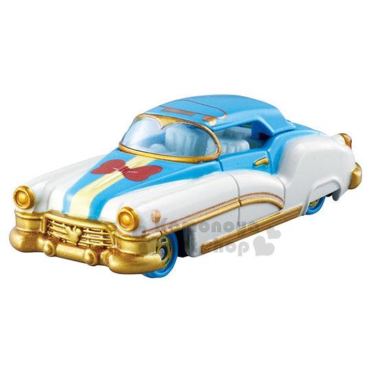 〔小禮堂〕迪士尼 唐老鴨 TOMICA小汽車《藍白金.轎車.盒裝》 4904810-97326