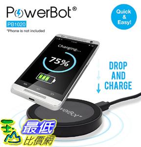 [107美國直購] 美國聲霸PowerBot PB1020 無線充電板 QI無線充電器 htc LG Samsung note5 s7